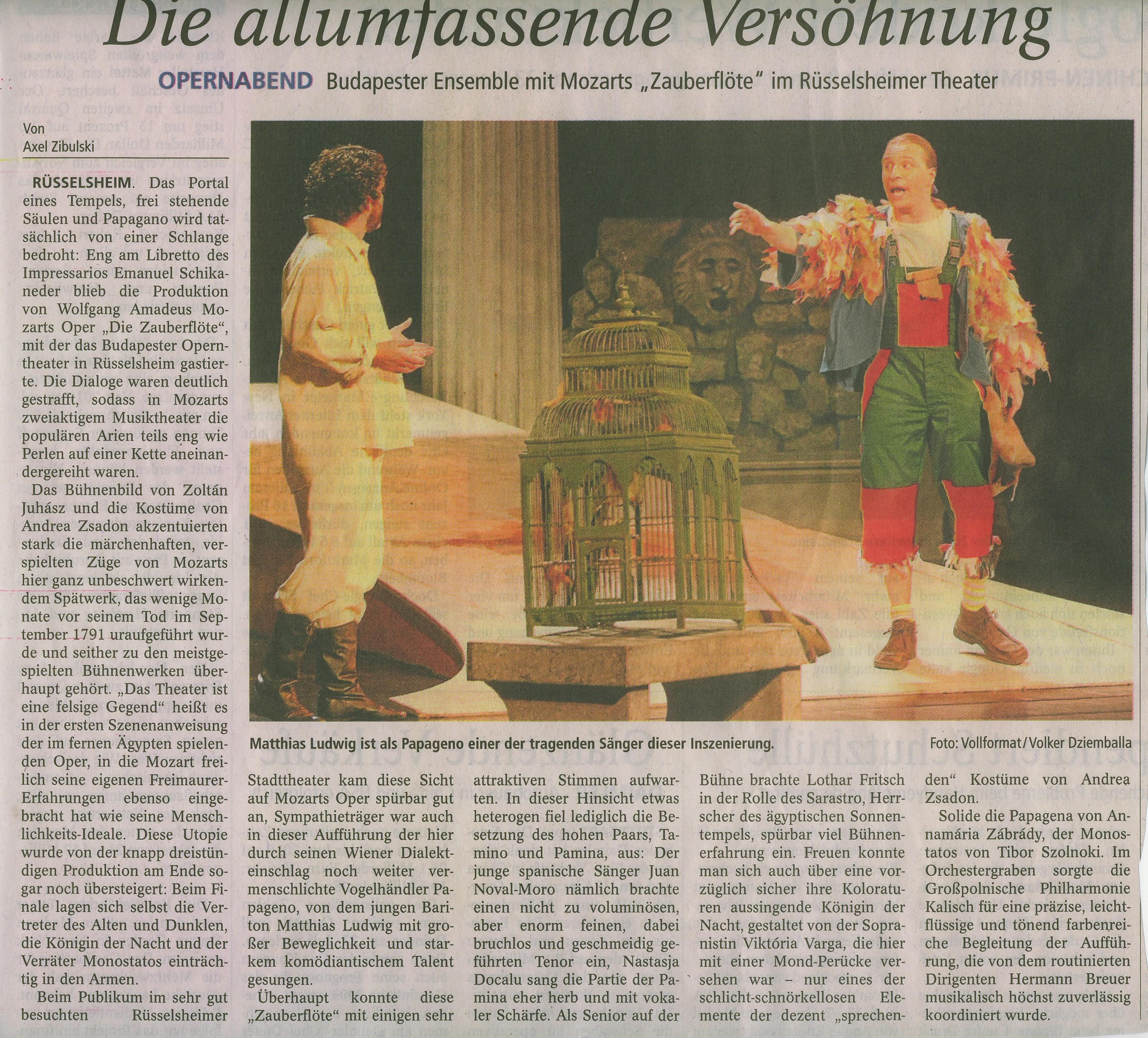 Kritik Zauberfl+Âte R+£ Mainspitze